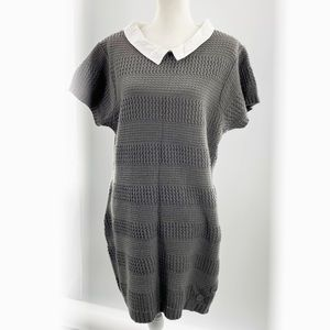 Extra Touch Women's Sweater Dress Plus 3X Gray